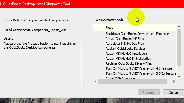 QB error code 1723