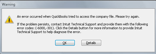 Quickbooks Error 600 301