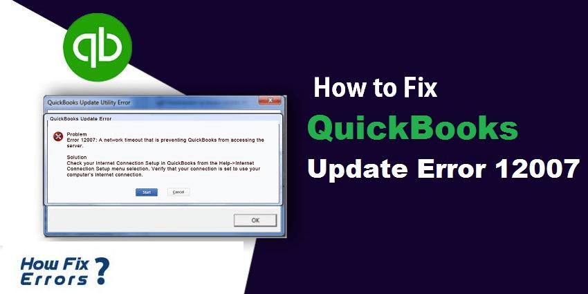 Quickbooks Error 12007